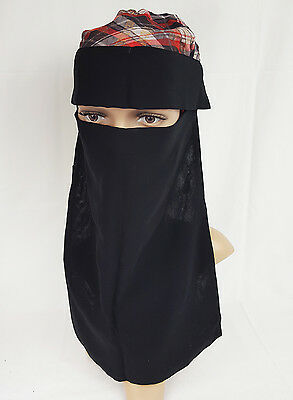 Niqab Face cover Veil Muslim women hijab saudi nikab cover-up niqaabs with flap
