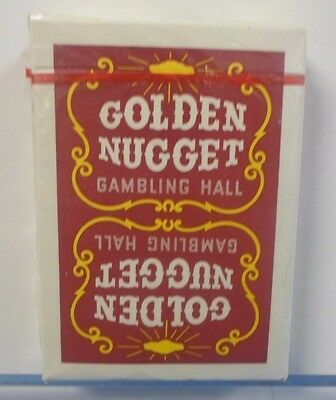 Vintage Golden Nugget Casino Red (RARE/Vintage/Mint) PlAYING CARDS 1960's