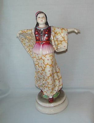 OLD Chinese Famille Rose Porcelain Figurine Jingdezhen China Figure Statue Girl