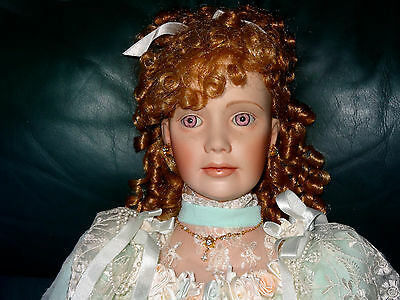 """Florence Jean 36"""" Porcelain Doll By Thelma Resch Excellent Condition 205/1000"""