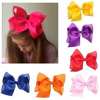 Girls Hair Accessories Boutique Hairpin Big Bow-knot Baby Hair Clip Ribbon
