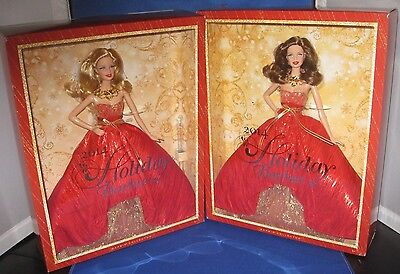 2014 Holiday Barbie & Kmart Exclusive Collector  Barbie Dolls, Mint, Nrfb