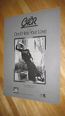 CHER DON'T HIDE 1972 original magazine poster ad promo record LP CD 11x14.5