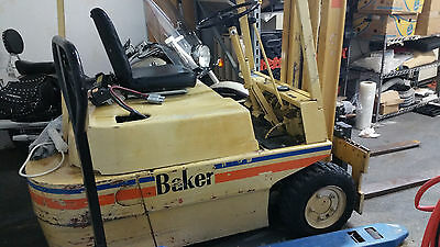 Linde Baker three wheeled electric forklift with charger