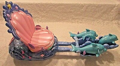Disney Little Mermaid Ariel Shimmering Dolphin Chariot Toy 2005