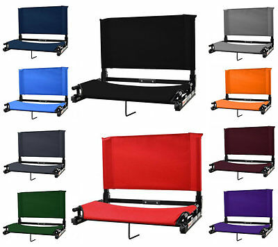 """Bleacher Seats With Backs The Stadium Chair Heavy Duty 20"""" ExWide Deluxe Sport"""
