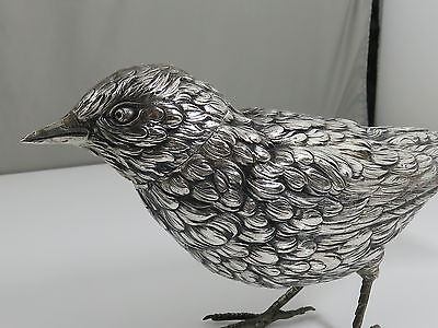 Antique Box - Bird  Spice Box - German 800 Silver - C 1900 ASIS ONE TOE MISSING