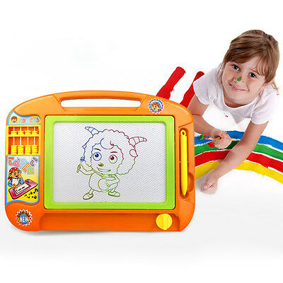 Kids Magnetic Drawing Board Erasable Sketch Doodle Pad Writing Abacus Art Toy