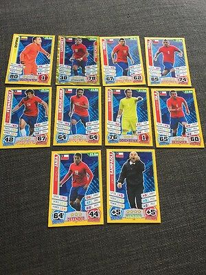 Chile Match Attax 2014 World Cup Inc Manager X 10