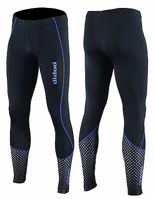 Didoo New Mens Compression Trouser Leggings Cold Wear Cycling Running Long Pants