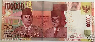 Indonesian BankNote $100,000 Rupiah MINT Uncirculated UNC Indonesia US Seller