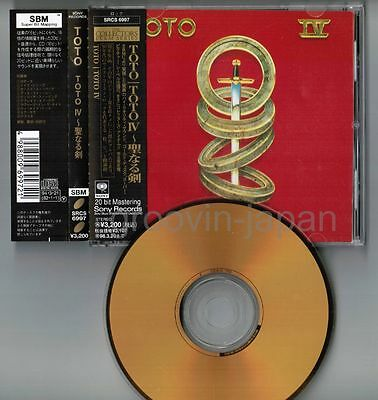 TOTO IV JAPAN 24k GOLD SBM CD w/OBI+24p P/S Booklet+Picture CD SRCS6997 Free S&H