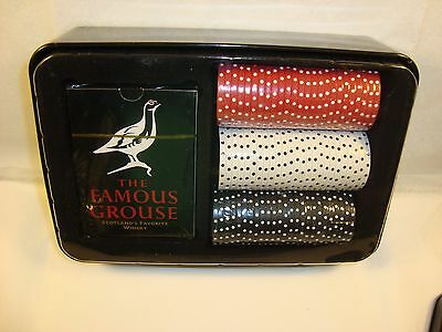 Famous Grouse Scotland's Favorite Whiskey - Playing Cards & Poker Chips in TIN