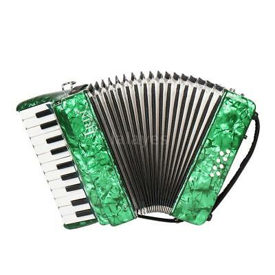 22-Key 8 Bass Piano Accordion for Students Beginners Childern Green V8O9