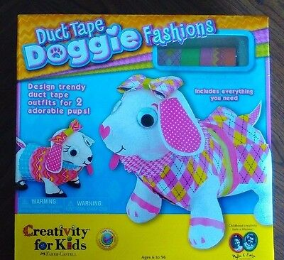 New Creativity For Kids Duct Tape Doggie Fashions by Faber-Castell Age 6 and Up
