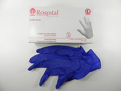 Disposable Nitrile Exam Gloves Powder Free Strong Non Latex Non Vinyl,Large