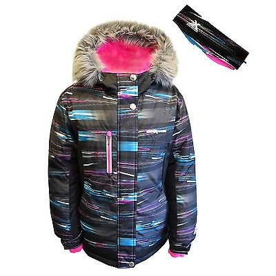 Zeroxposur Big Girl's Snowboard Jacket With Headband Multi-Color, Variety Size