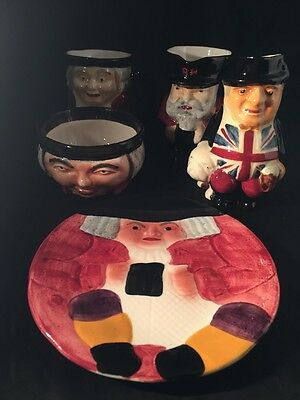 Vintage Shorter And Sons Character Toby Jugs And Plate