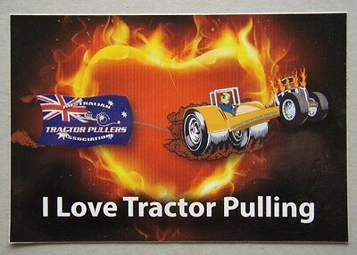 I Love Tractor Pulling Australian Tractor Pullers Association 2014 Sticker
