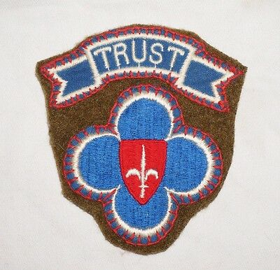 US Forces Trieste With Tab Theater Made Patch WWII US Army P2405