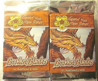 Lot of 24: L5R Legend Of The Five Rings CCG BROKEN BLADES Boosters (11 Cards)