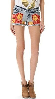 NEW  AUTH Haute Hippie Embroidered Cutoff Shorts $285 SOLD OUT