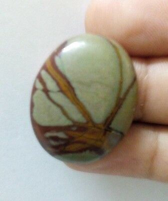 25.85Cts 100% Natural Mixed Striped Real Oval Untreated Cabochon Gemstone 1110