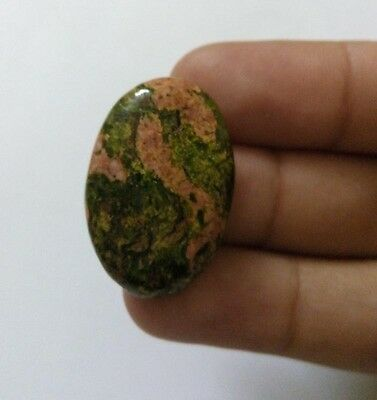 25.90Cts Natural Green Seraphinite African Cabochon Royal Loose Gemstone 1087