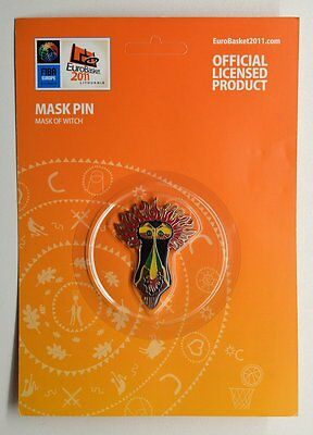 2011 FIBA EuroBasket Lithuania Mask of Witch Pin Badge