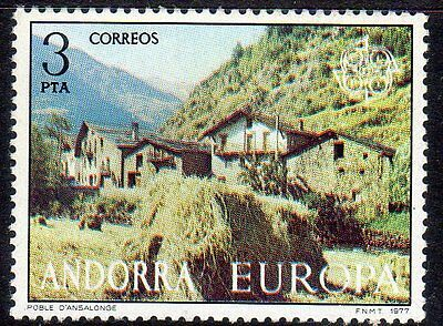 Spanish Andorra. Set from 1977. Edifil 108, 109. Mint never hinged.