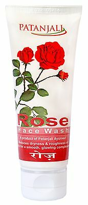 Patanjali Herbal ROSE Face Wash For Smooth and Beautiful skin - 60 gm