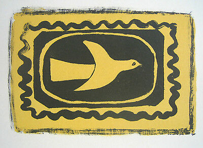 GEORGES BRAQUE limited edition mounted lithograph print, Mourlot, 1963 GB028