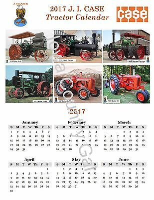 """New 2017 J. I. Case Tractor Laminated Calendar  11"""" X 17"""" 2 Sides"""