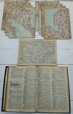 Vintage Daily Express New Road Book Of Great Britain.george Philip & Son. Map's.