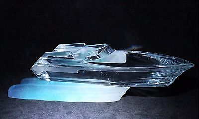 LARGE Spectacular DAUM Pate-de-VERRE Monaco POWER Speed BOAT Glass SCULPTURE
