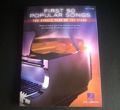 Partition Piano - 50 Popular Songs   -  Neuf