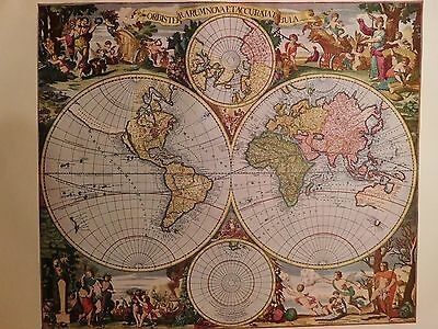 1690 Antique Map Of The World - Gerard & Leonard Valk - Reproduction - Colour