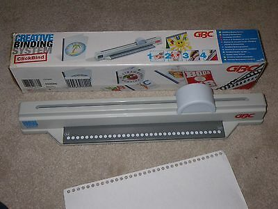 GBC Clickman Clickbind Creative Binding System - portable machine - Hole Punch