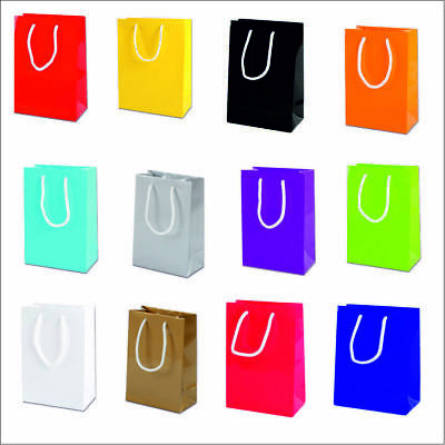 LUXURY PAPER PARTY BAGS PAPER BOUTIQUE BAG GIFT BAGS WITH ROPE HANDLES 15x22x8CM