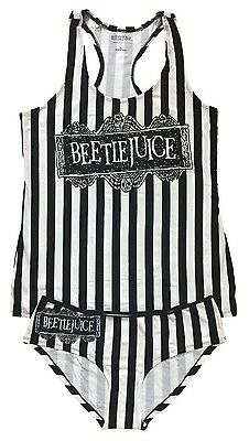 New Dreams Made Visible BEETLEJUICE Women's 2 Piece Tank and Panty Set Medium