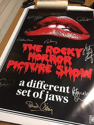 Original Rocky Horror Picture Show Film Movie Poster Signed By 9 Of The Cast COA