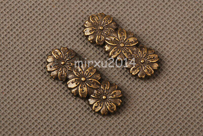 Delicate ALLOY MENUKI  FOR JAPANESE SAMURAI KATANA&WAKIZASHI&TANTO GOLDEN FLOWER