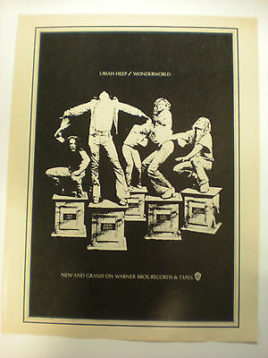 URIAH HEEP  ALBUM ADVERTISEMENT   8x10 Poster FROM THE  70's  A Classic Gem!!