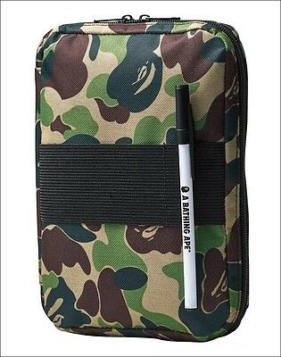 A Bathing Ape BAPE Camouflage Document Holder Passport Travel Purse