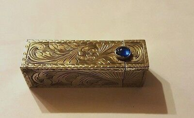Early 20th Century Sterling Silver Italian Chased LipStick Holder