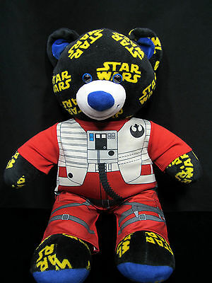 Star Wars Logo Build a Bear Teddy Plush Stuffed Animal with Outfit Poe Dameron