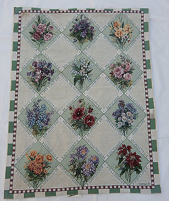 Vintage French Beautiful Tapestry Wall Hanging 65x87cm T343