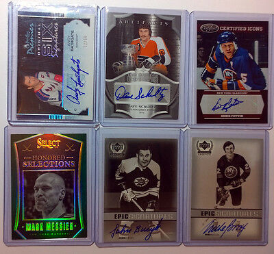 1999 Ud Century Legends Mike Bossy Epic Signatures On-Card Auto Islanders Hof