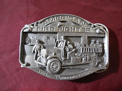 1994 Commemorative American Fire Fighter Belt Buckle Limited And Numbered