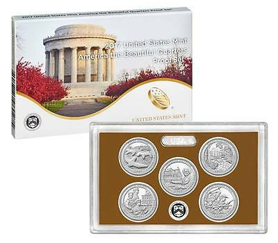 2017 S Proof America the Beautiful Quarter ATB US Mint clad 5 coin Set WITH COA